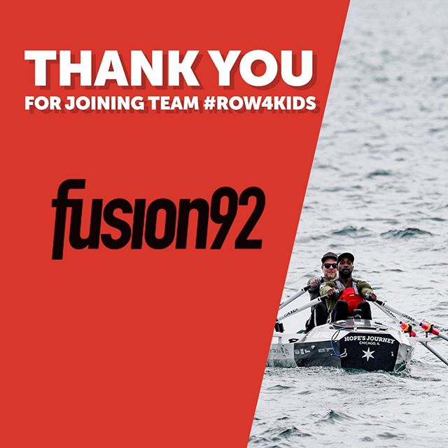 The sponsors just keep coming. Kicking off today is Fusion92! Jake's place of employment has offered a helping hand, free-of-charge to generate interest around the row. We can't thank them enough for the time they've spent to help us expand awareness of this crucial cause. #TeamRow4Kids