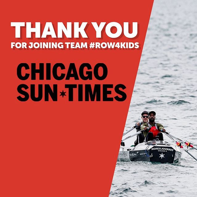 Finally, a huge thank you to the Chicago Sun-Times. As our media partner, they've played a crucial role in broadcasting our message of hope and resilience. Thanks to their work, more Chicagoans know about the importance of pediatric cancer research than ever before. #TeamRow4Kids