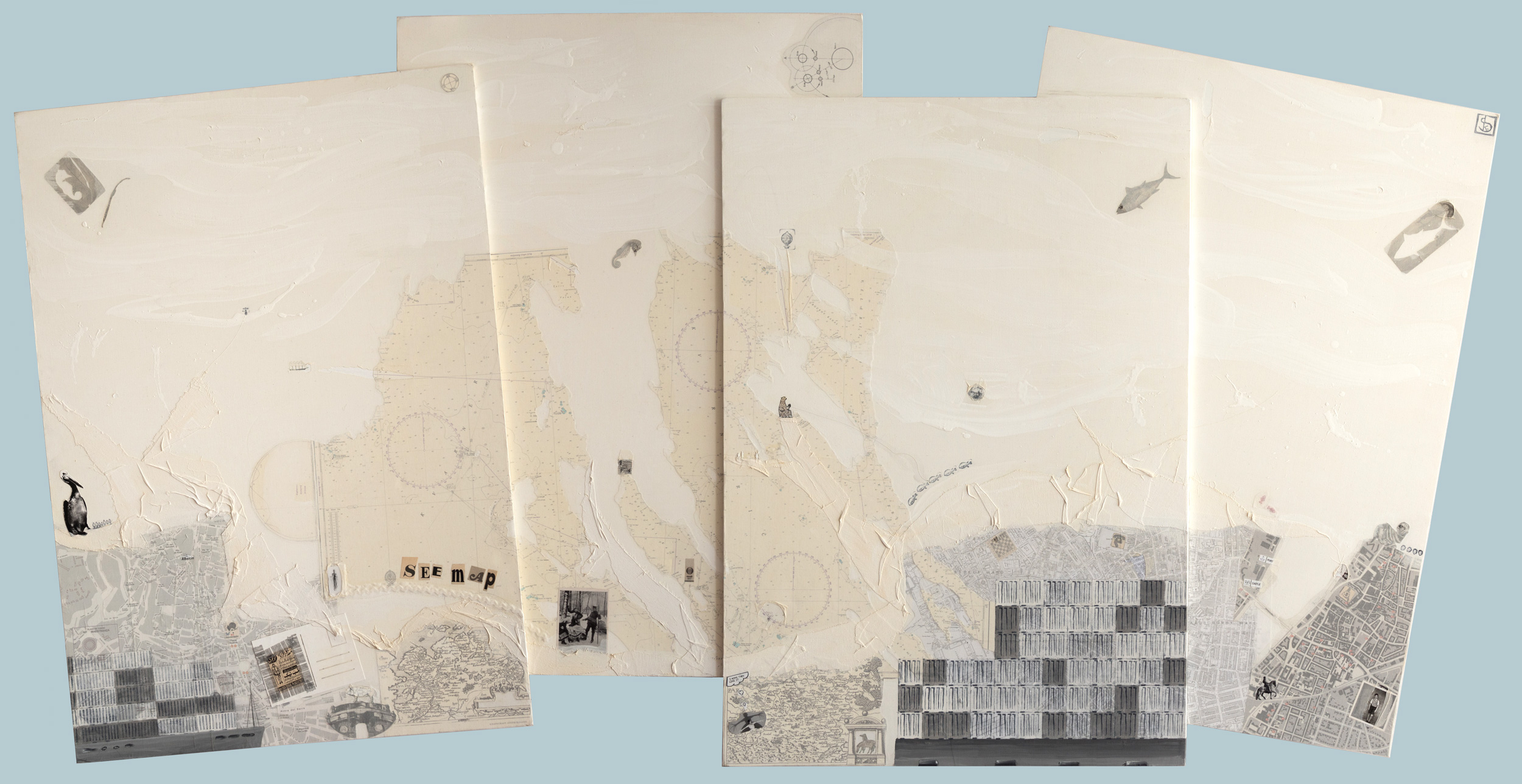 SEEmap - 224 x 112,5 cm / 88,9 x 44 in