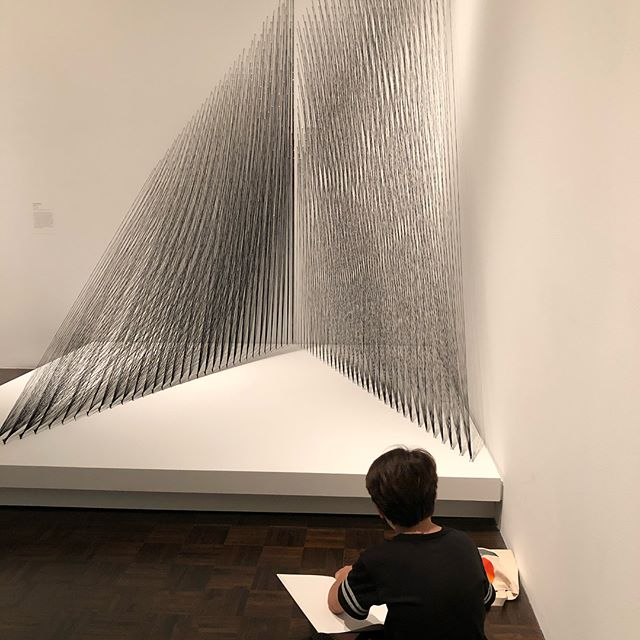 Sketching at the Met Breuer field trip #museum #metbruer #kidsart #summercamp