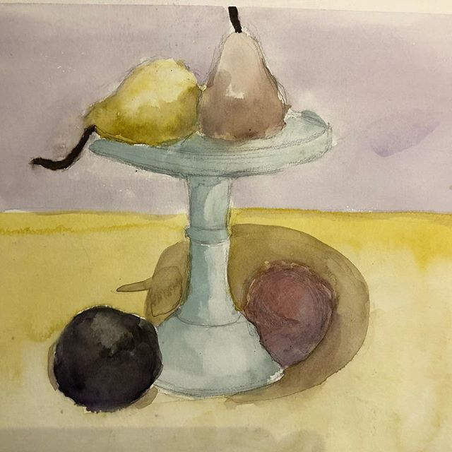 Fresh and beautiful watercolor by a portfolio student. #artportfolio #artafterschool #artclassesforkids #watercolor #stilllife #portfolio