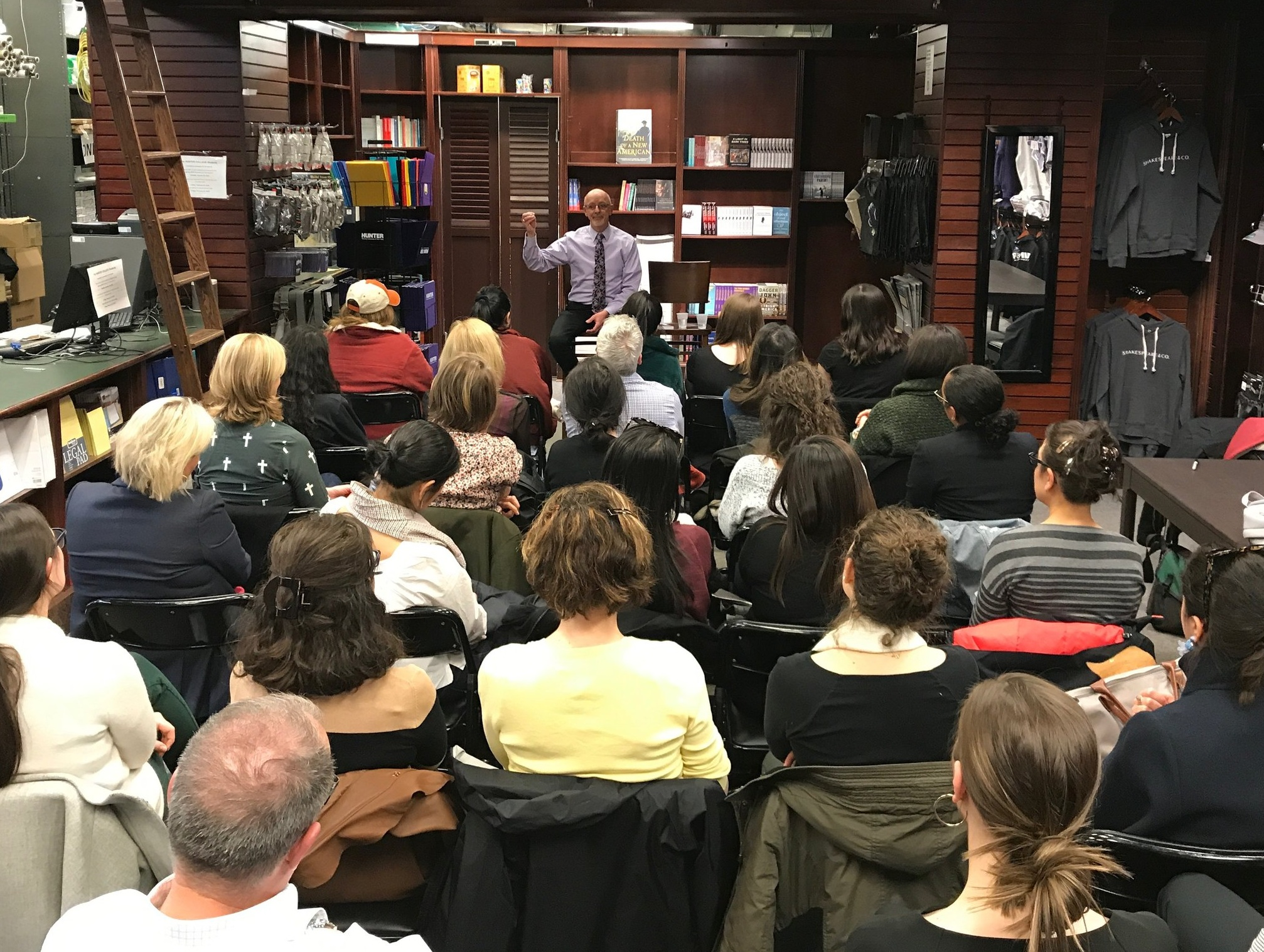 Author talk at Shakespeare & Co. Bookstore in Manhattan