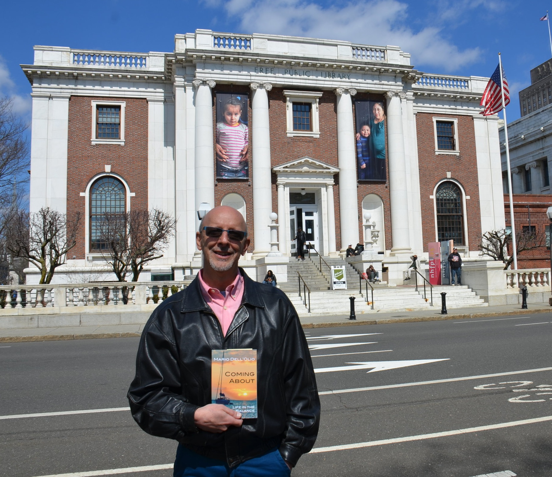 Book reading at the New Haven Free Public Library in Connecticut