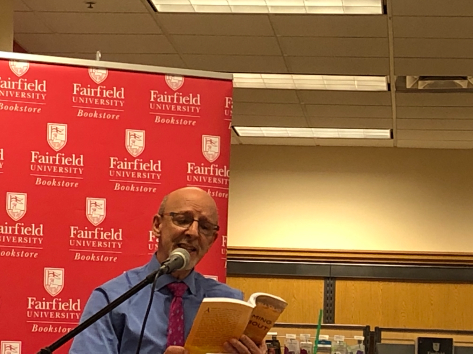 Author event at the Fairfield University Bookstore in Connecticut