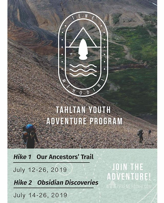 Friends 👋 we're getting pumped up for this years Tene Mehodihi hikes!  If you're looking for your summer adventure, here it is! Backpacking. Rugged wilderness. Cool people. Great food. Campfires. Learning. Good times. Got it covered!  Put it in the calendar 🤘🗓. #tenemehodihi #justdoit #adventureisoutthere #explorenorthernbc #tahltan #likeforlike #ad #explorecanada #explorebc #neature #naturelovers #hikebc #youthhike #wildernessculture #dontthinkjustdo #getfiredup #woohoo #yeehaw #hikingboots #hikingbc #edziza #tahltanterritory