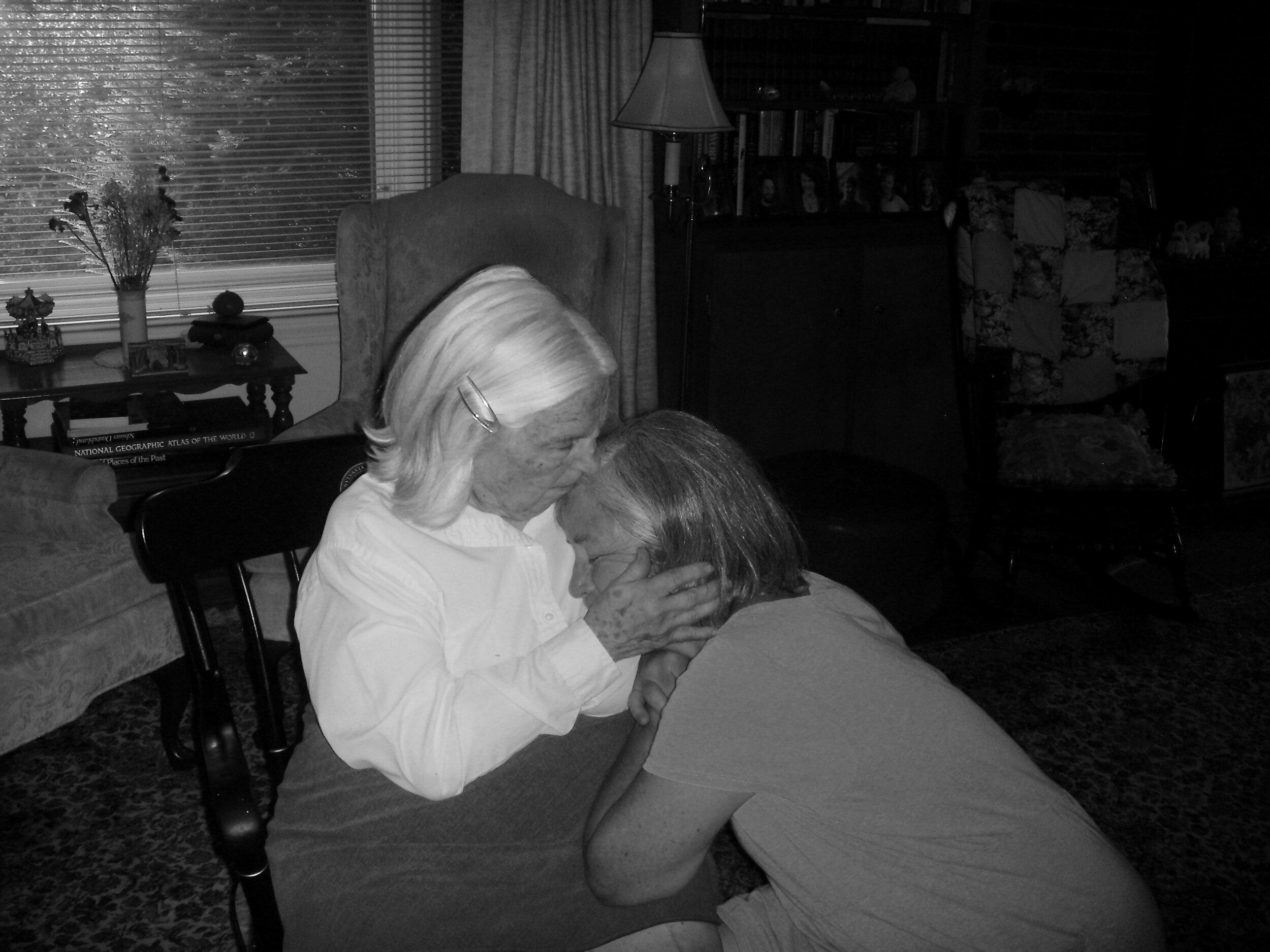 grandma and mum