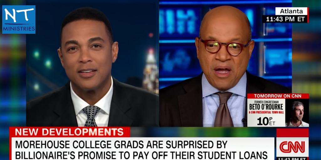 David Thomas, President of Moorhouse College & CNN analysts Don Lemon Interview concerning Billionaires Robert F. Jones grant for 2019 graduation class.