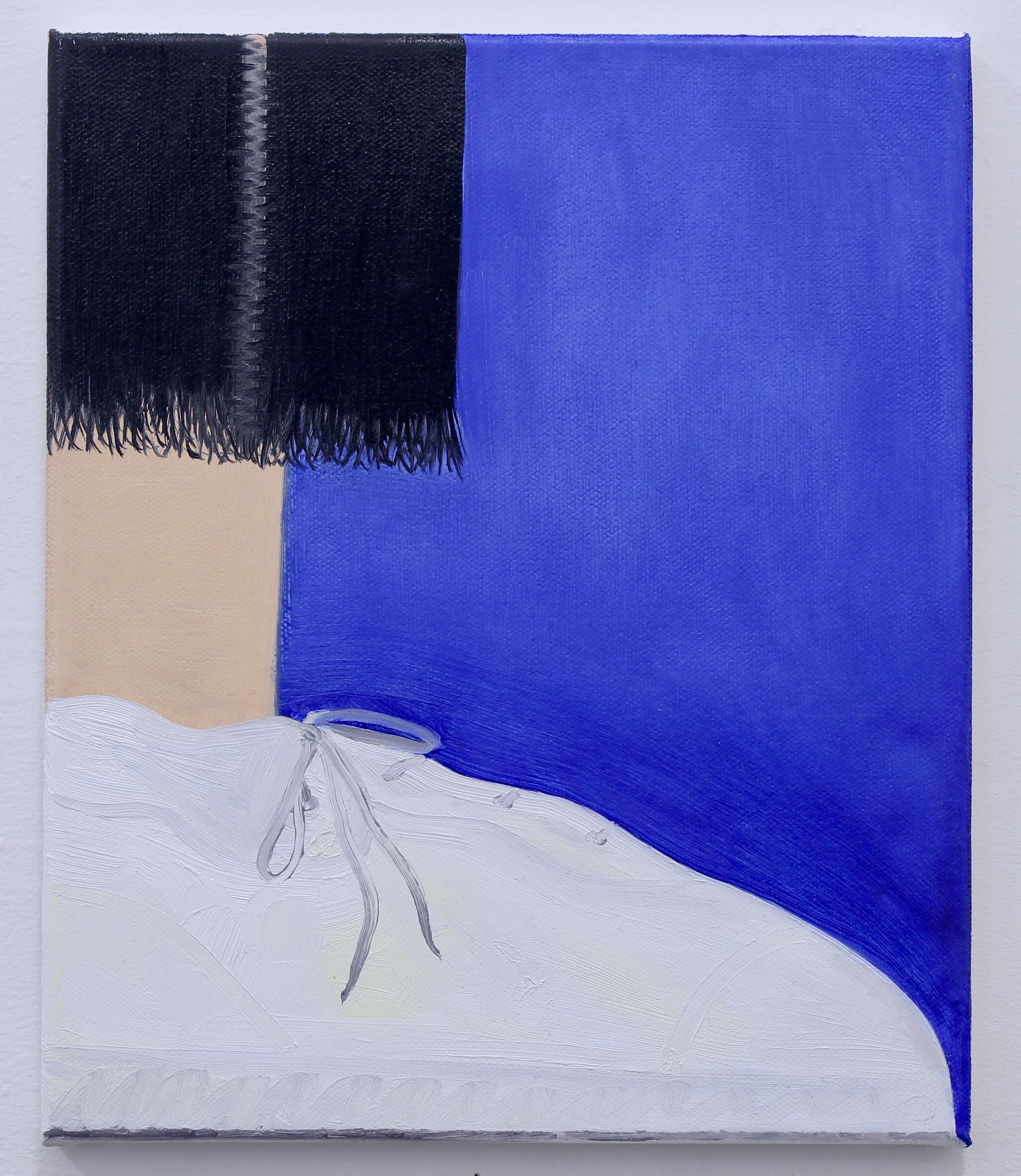 Black Fringe , oil on canvas, 30 x 25 cm, 2018