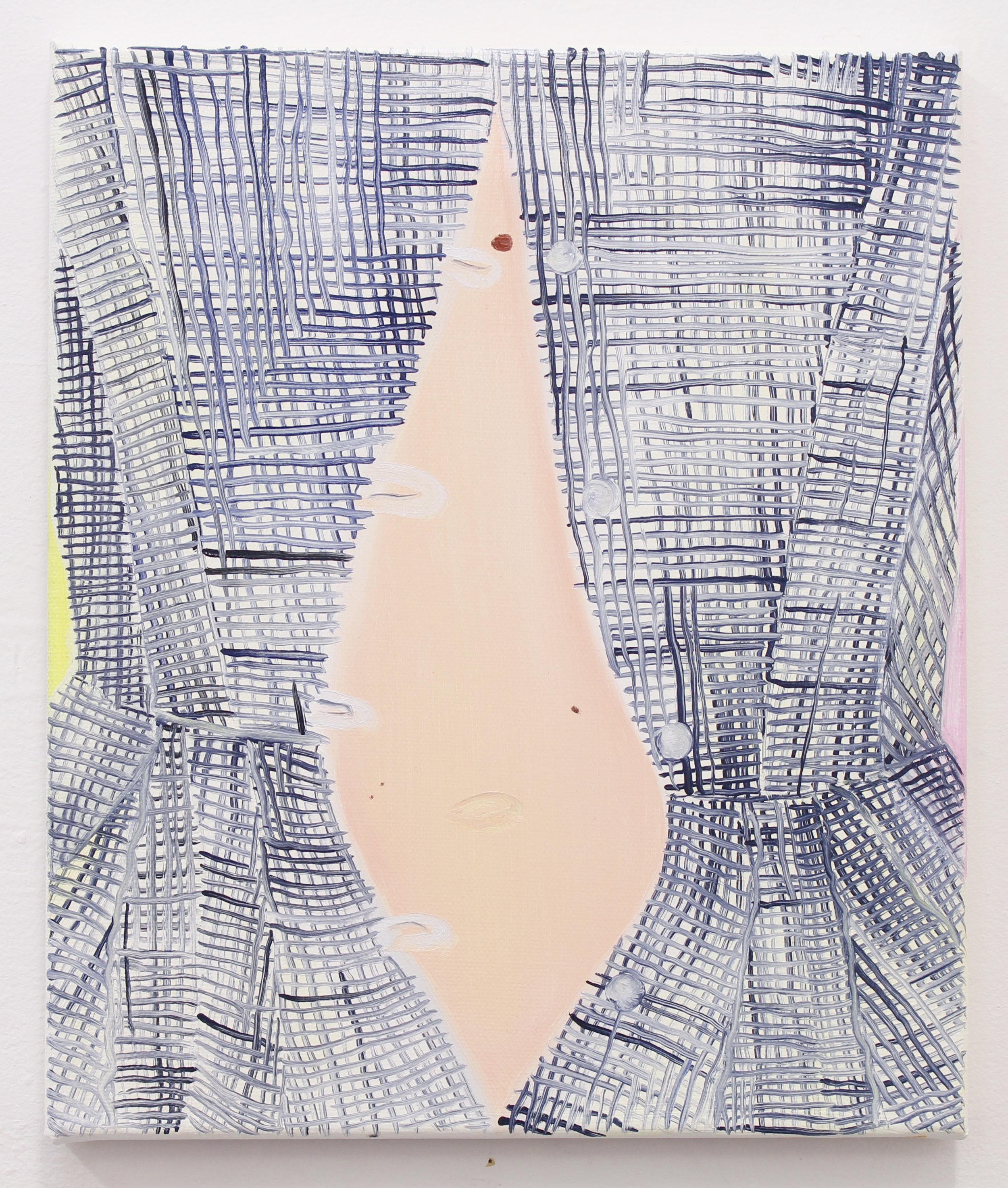 Navel gaze , oil on canvas, 30 x 25 cm, 2018