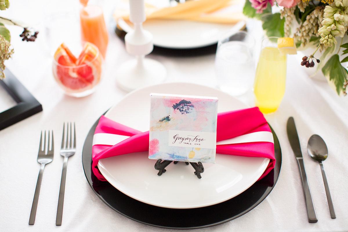 Pink Table Setting Chicago Wedding Alexandra Lee Photography