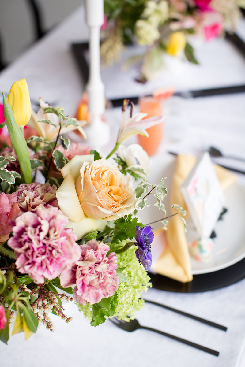 Pink Floral Table Centerpieces Chicago Weddings Alexandra Lee Photography