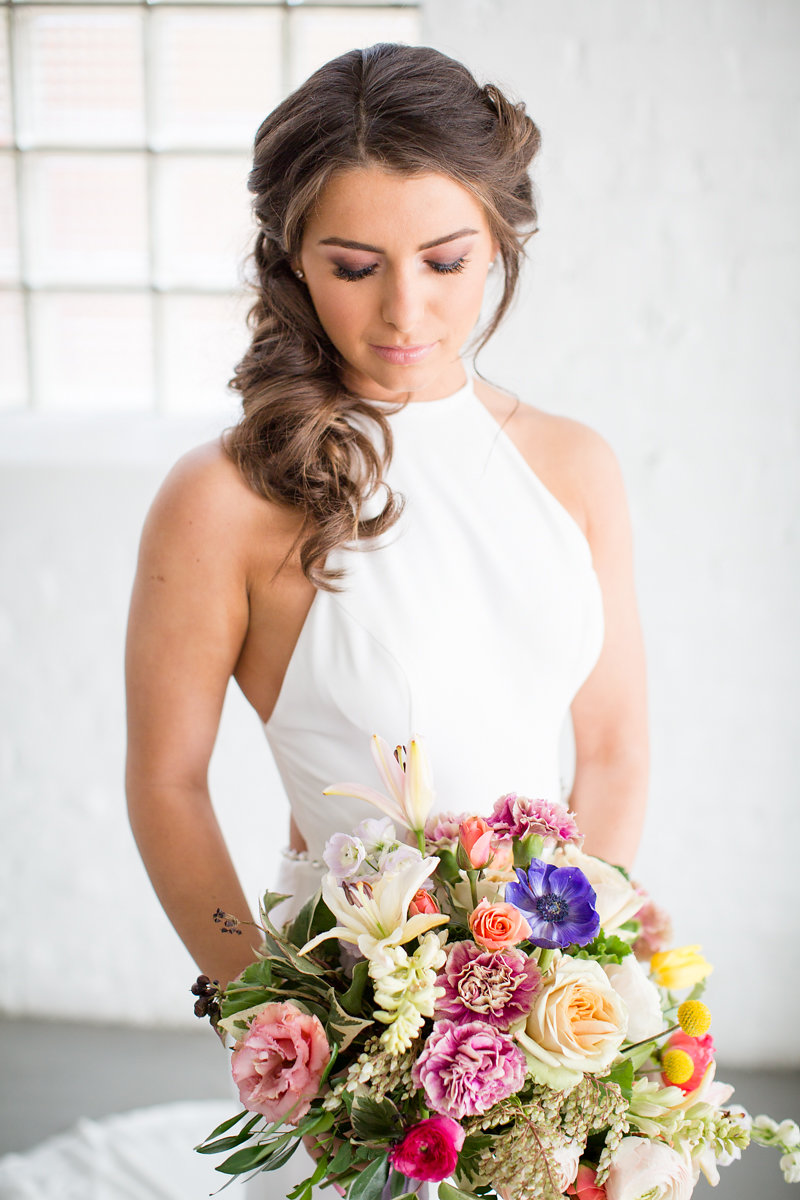 High Neckline Wedding Dress Chicago Wedding Alexandra Lee Photography