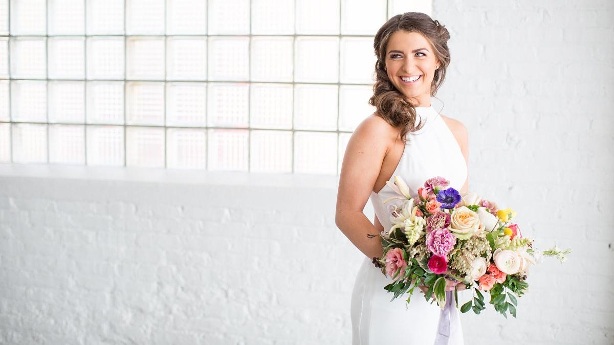 Various Florals Bridal Bouquet Chicago Wedding Alexandra Lee Photography
