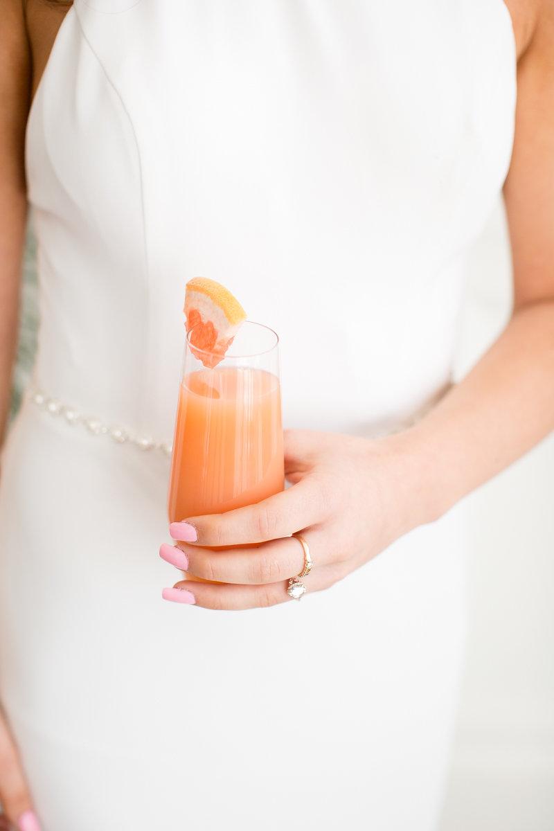Pink Bridal Nails Chicago Wedding Alexandra Lee Photography