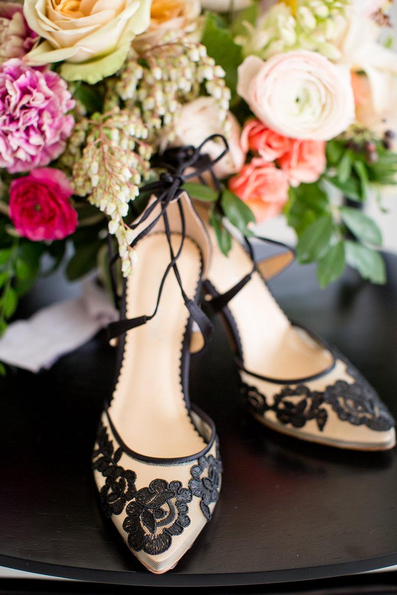Black Bridal Heels Chicago Wedding Alexandra Lee Photography
