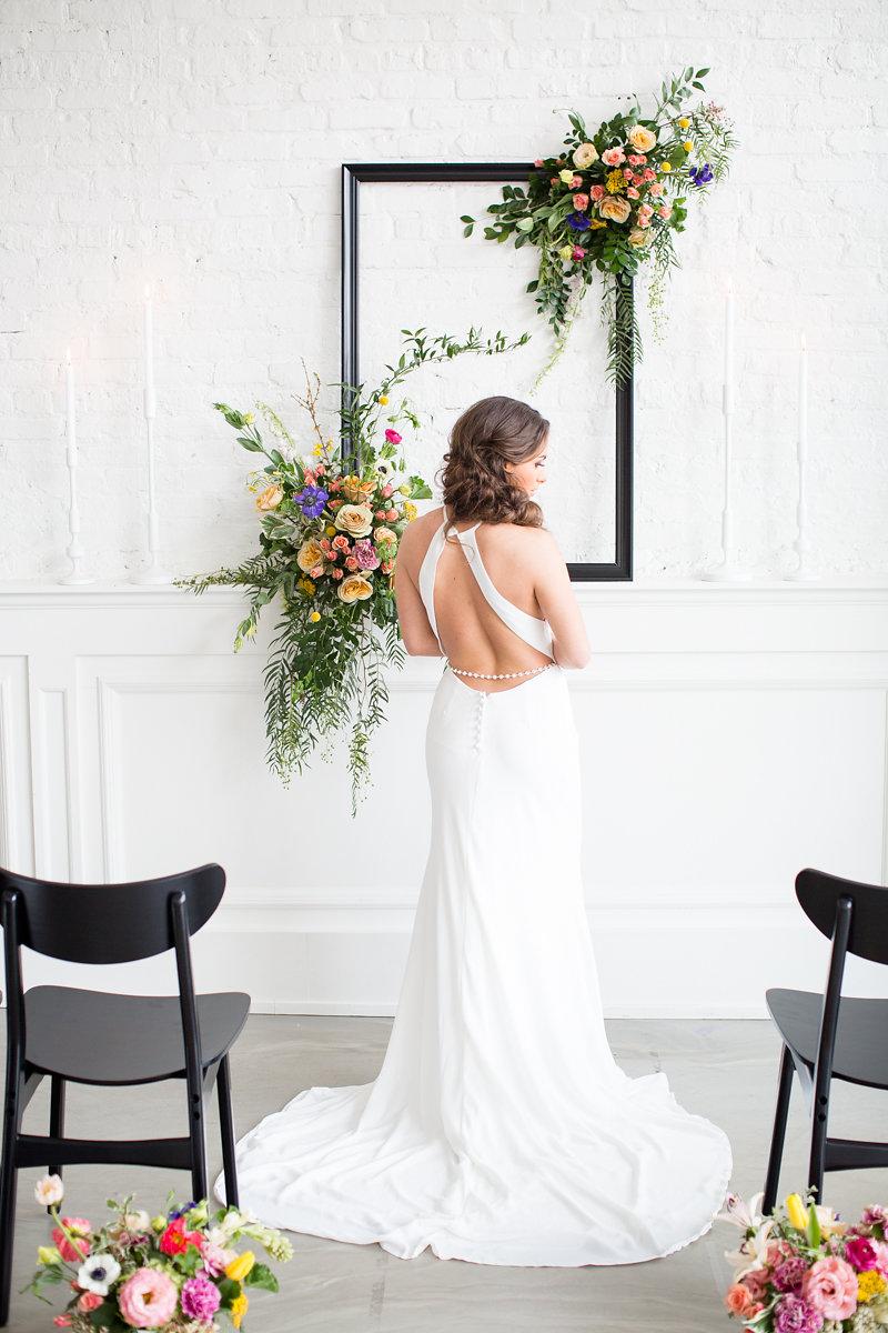Backless Wedding Gown Chicago Wedding Alexandra Lee Photography