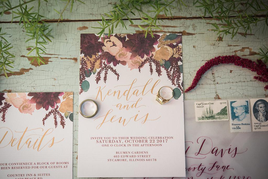 Maroon Floral Wedding Invitations Chicago Wedding Inspired Eye Photography