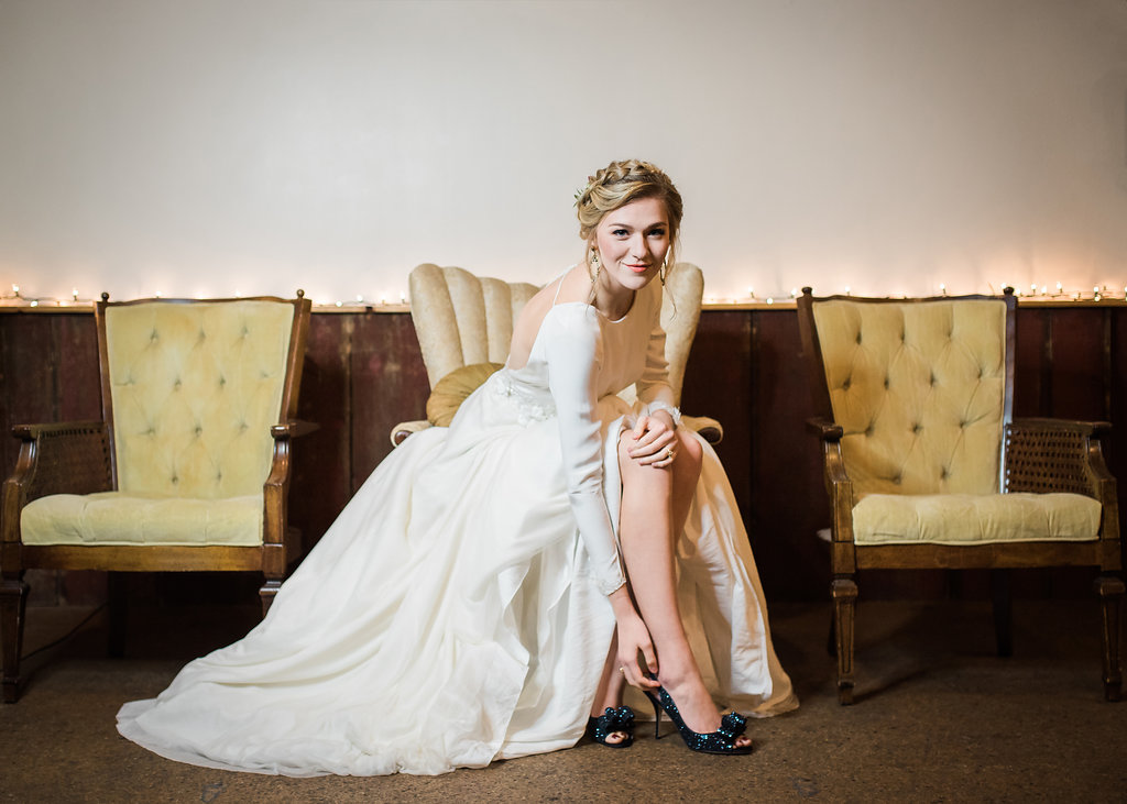 Long Sleeve Bridal Gown Chicago Wedding Inspired Eye Photography