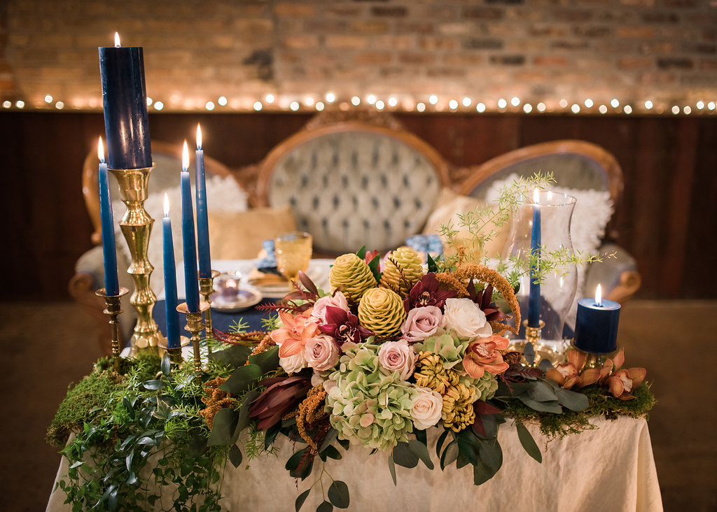 Floral Center Pieces Chicago Wedding Inspired Eye Photography