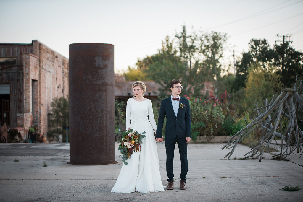 Modest Long Sleeve Bridal Gown Chicago Wedding Inspired Eye Photography