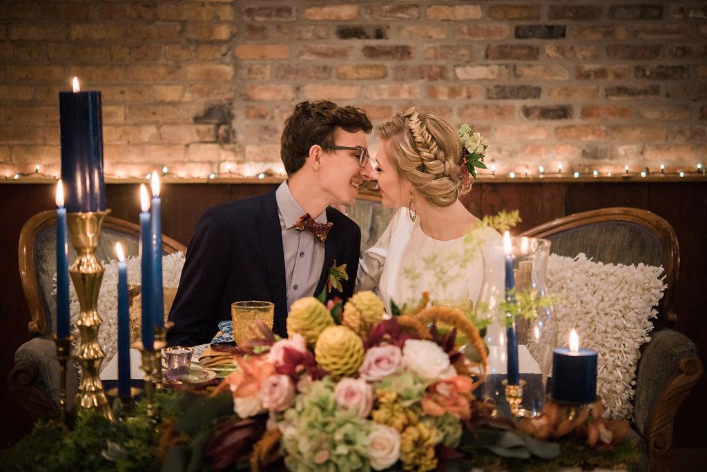 Boho Braid Bridal Updo Chicago Wedding Inspired Eye Photography