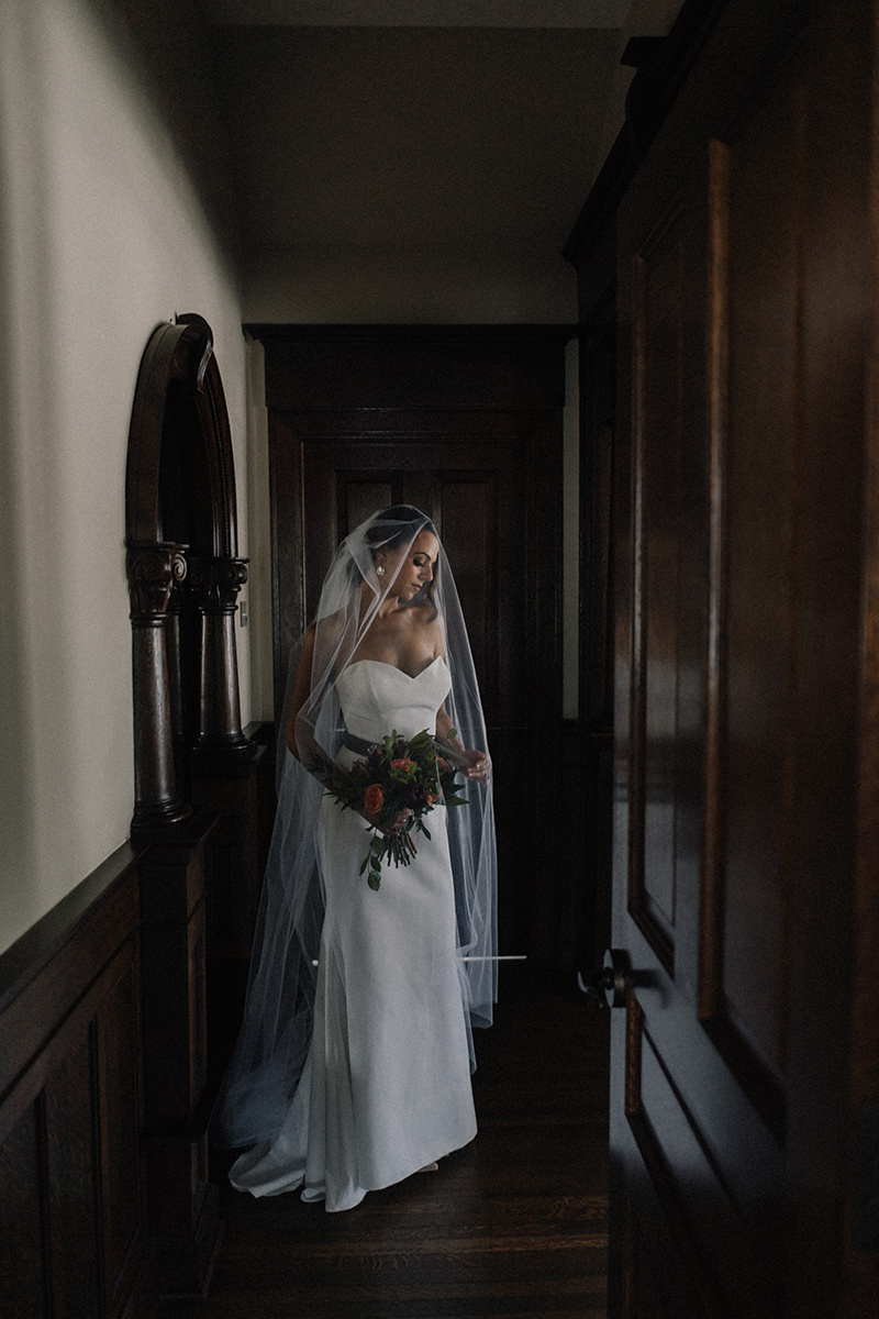 Sleeveless Fit and Flare Wedding Gown with Beaded Belt Chicago Wedding lisa kathan photography
