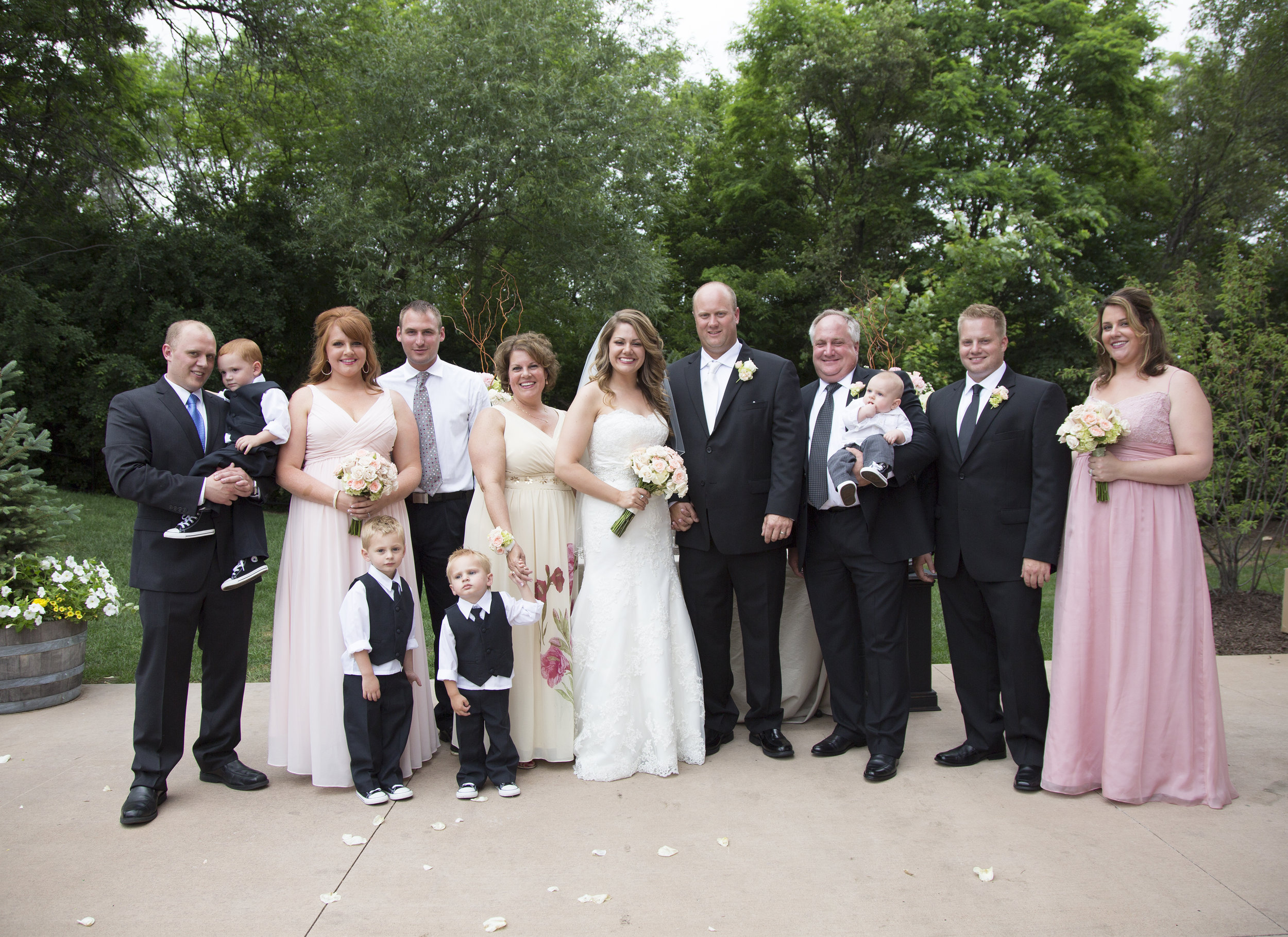 Formal Family Portrait Chicago Wedding Michelle Cox Photography
