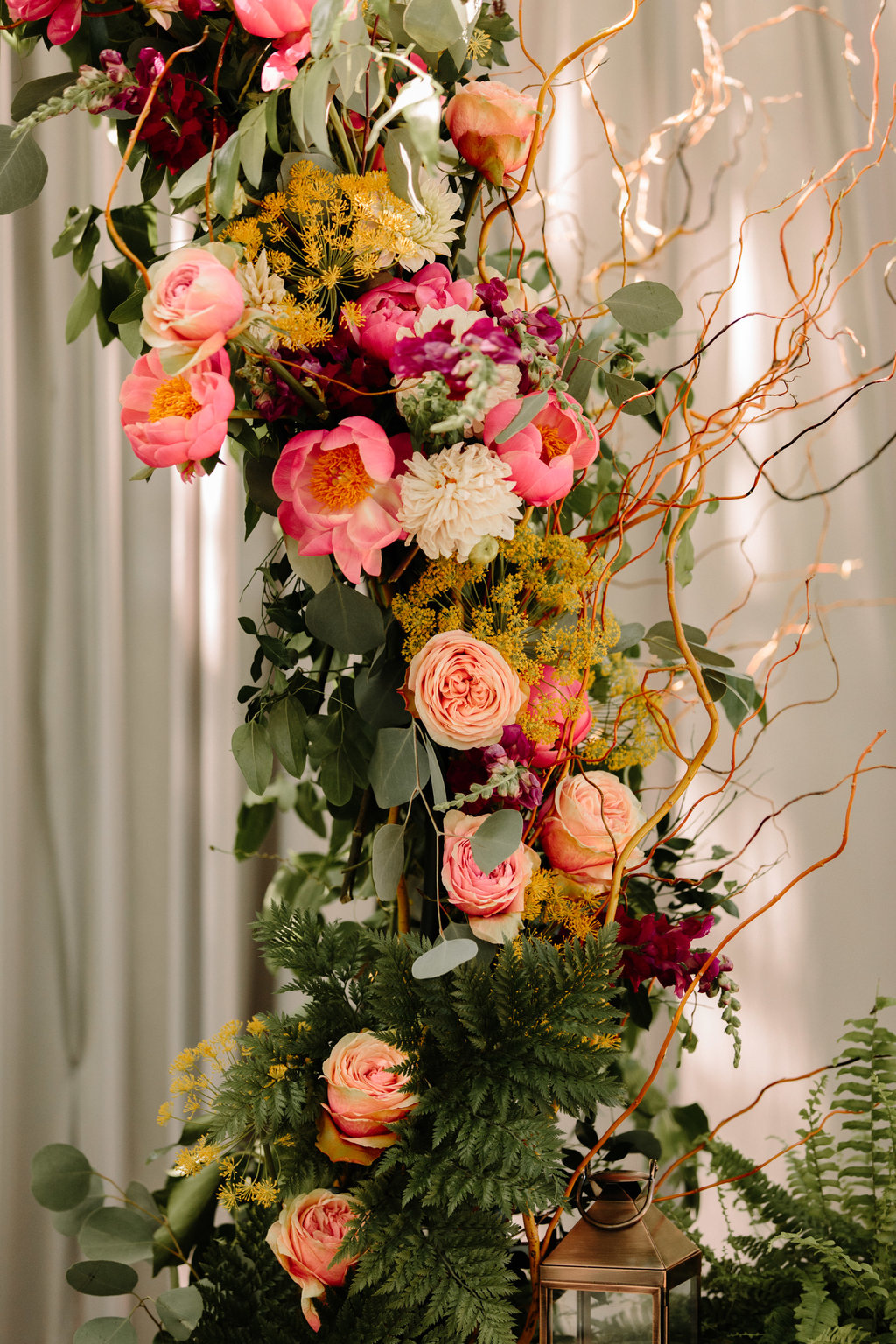 Pink Floral Wedding Arch Chicago Wedding Erika Mattingly Photography