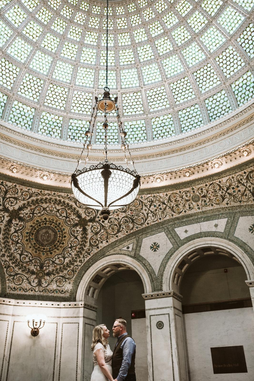 Chicago Wedding Chicago Cultural Center lisa kathan photography