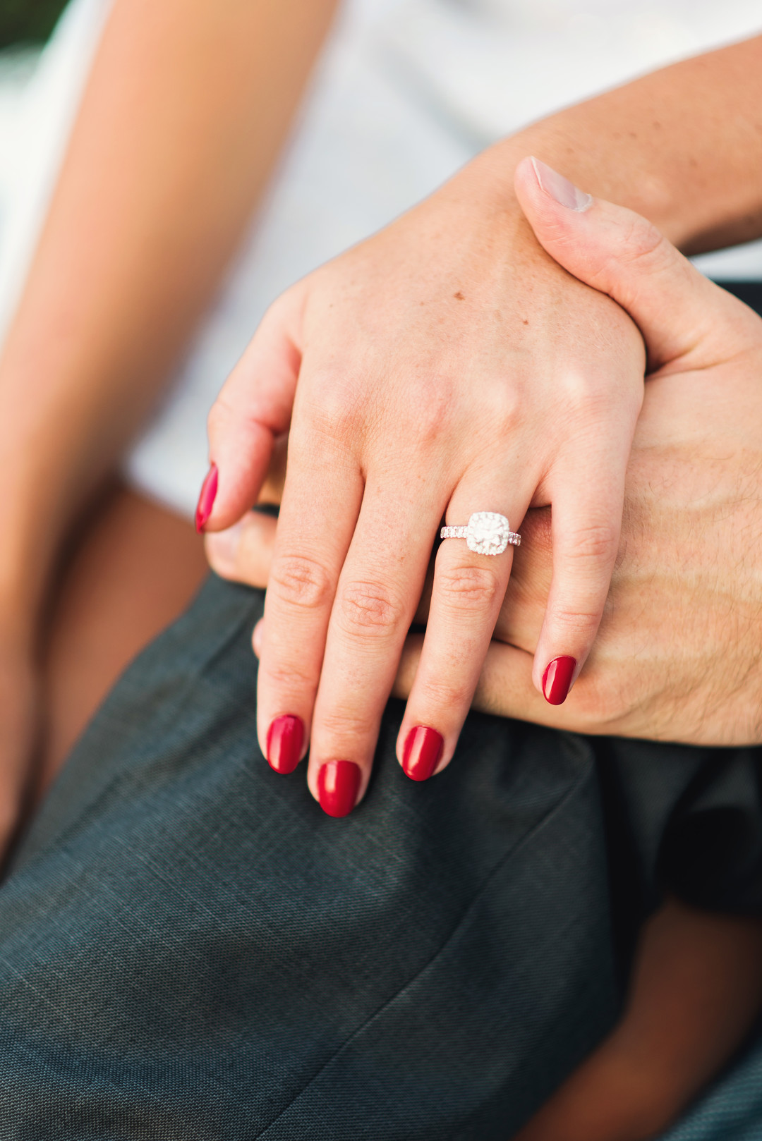 Princess Cut Engagement Ring Chicago Engagement Photoshoot Cody Krogman Photography