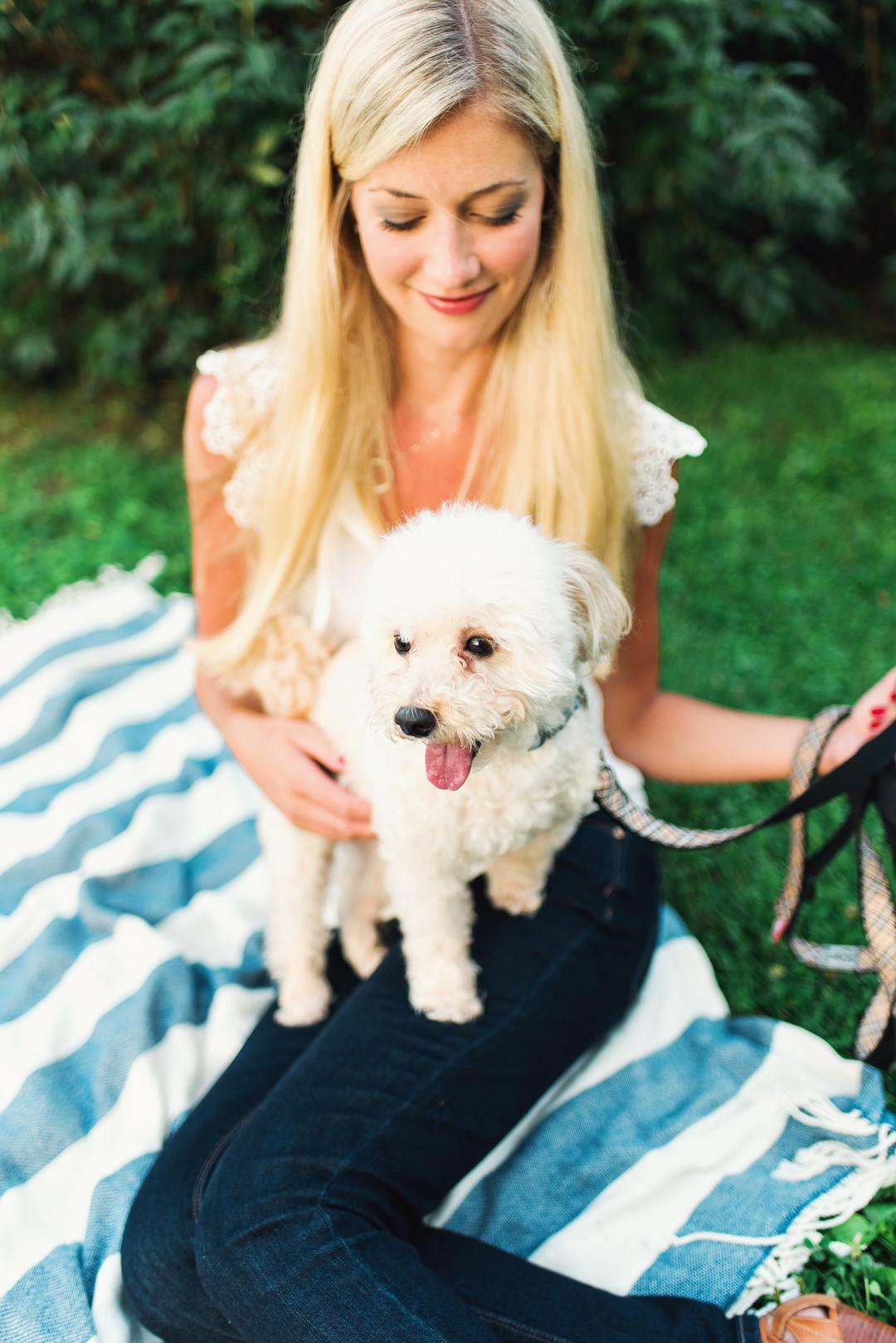 Chicago Engagement Photoshoot with Dog Cody Krogman Photography