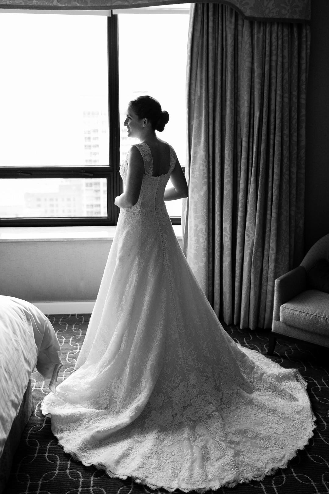 Glamorous A Line Lace Wedding Dress Chicago Wedding Emilia Jane Photography