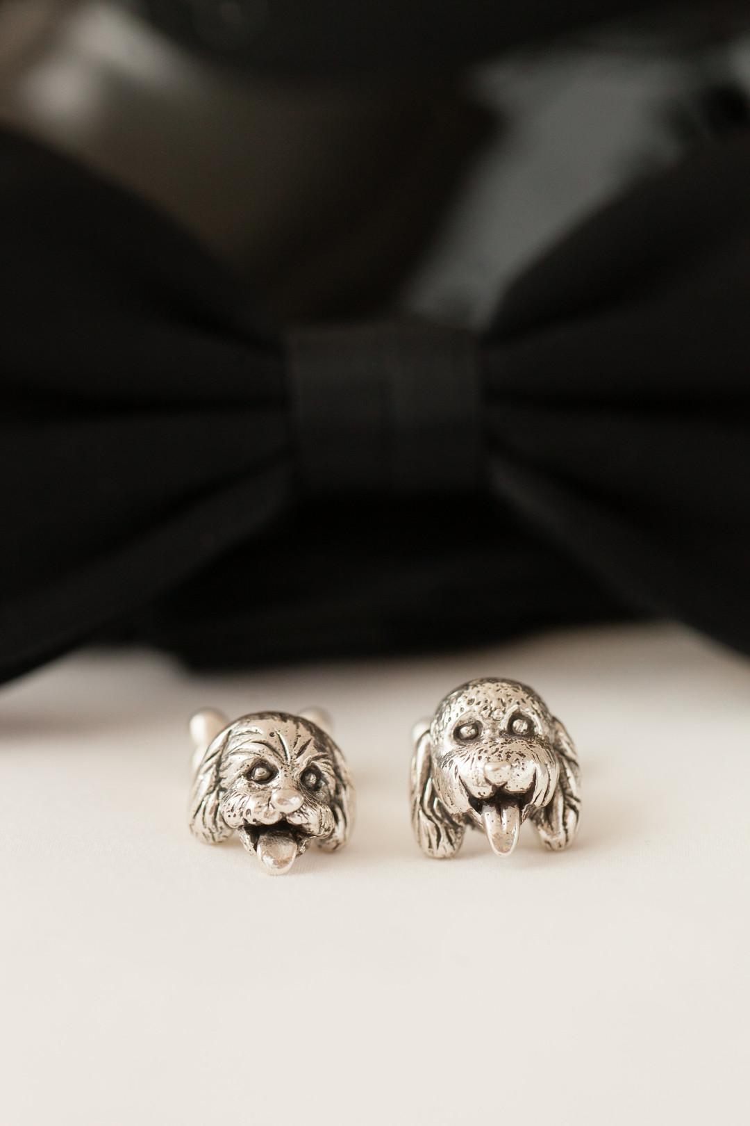 Groom Dog Cuff Links Chicago Wedding Emilia Jane Photography