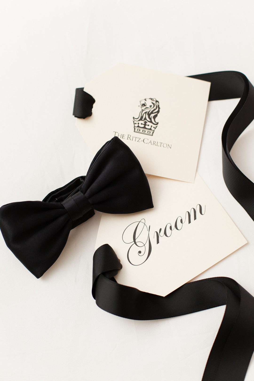 Groom Black Bow Tie Chicago Wedding Emilia Jane Photography