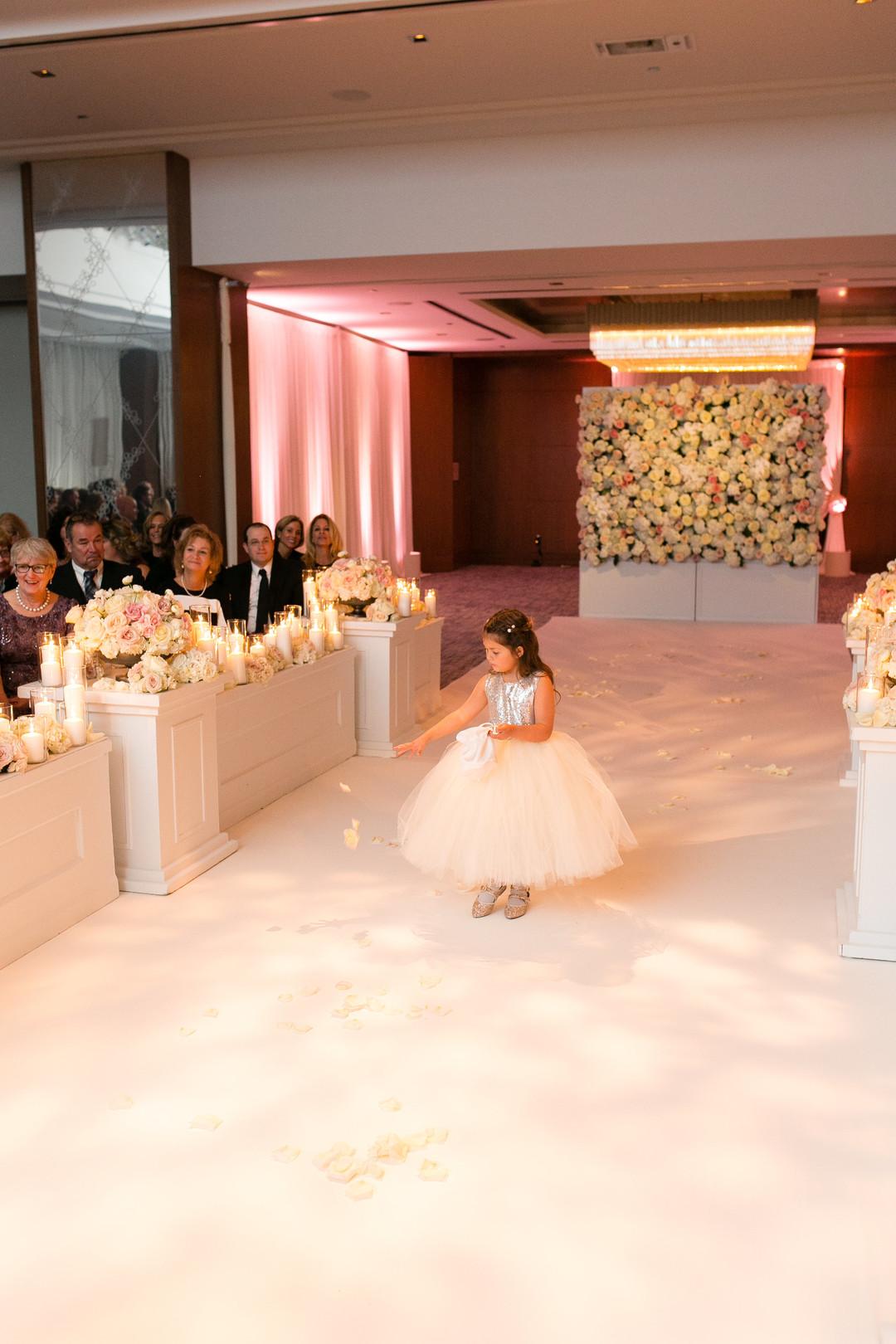 Pink Tulle Flower Girl Dress Chicago Wedding Emilia Jane Photography