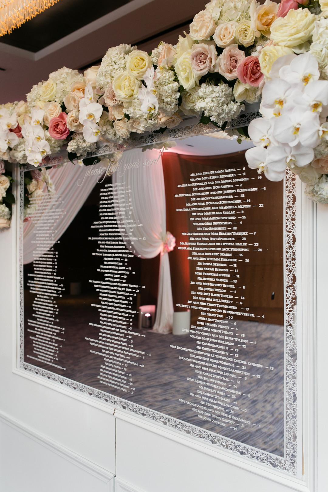 Alternative Seating Chart Sign Chicago Wedding Emilia Jane Photography