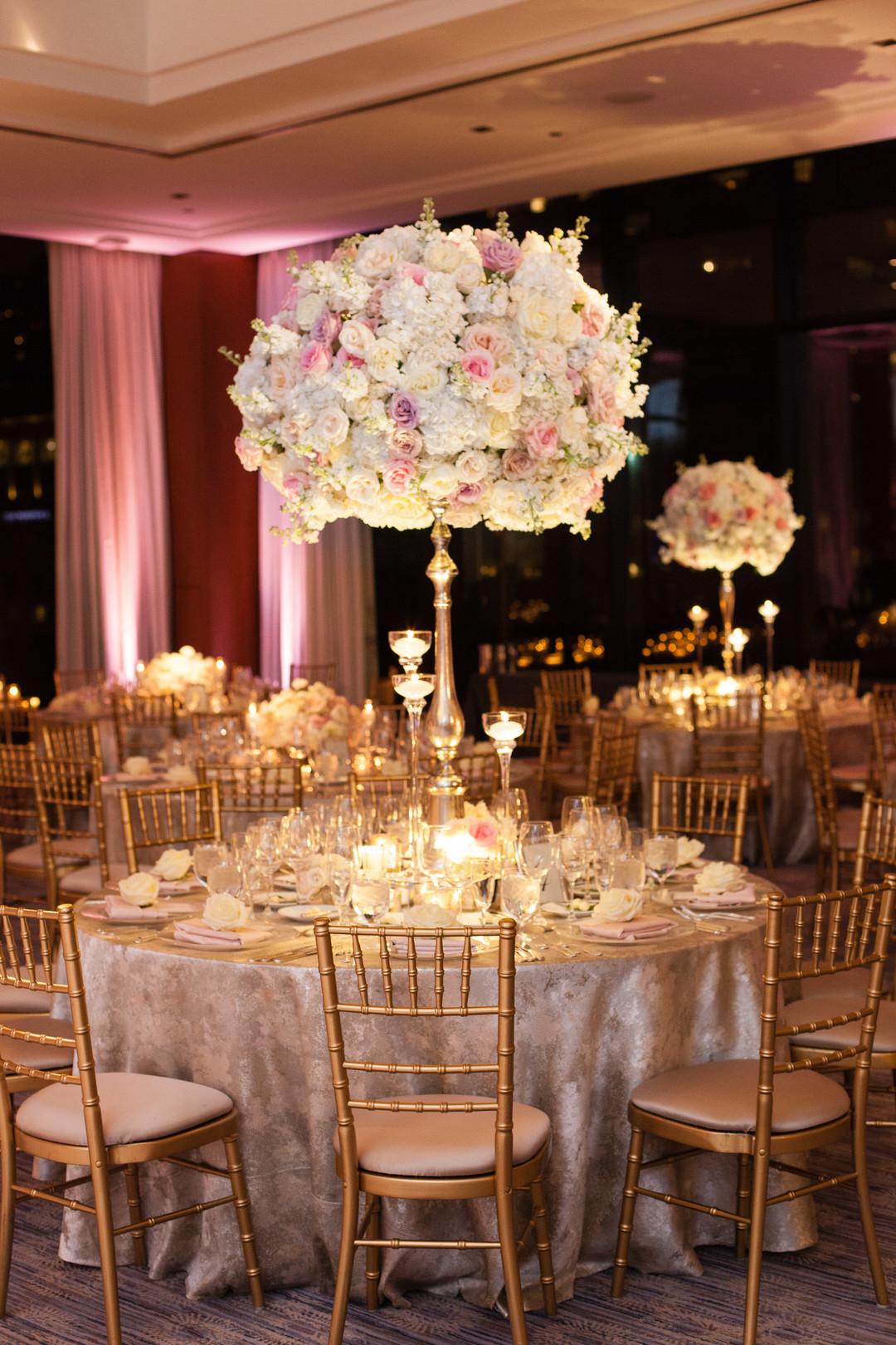Glamorous White Rose Center Piece Chicago Wedding Emilia Jane Photography
