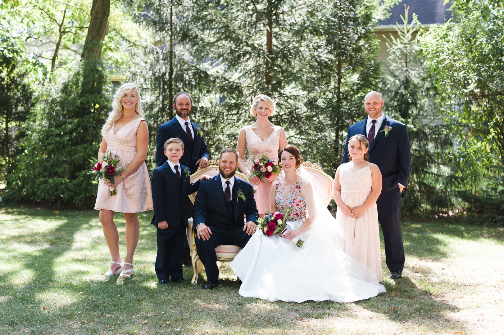 Gold and Black Bridal Party Chicago Wedding Elite Photography