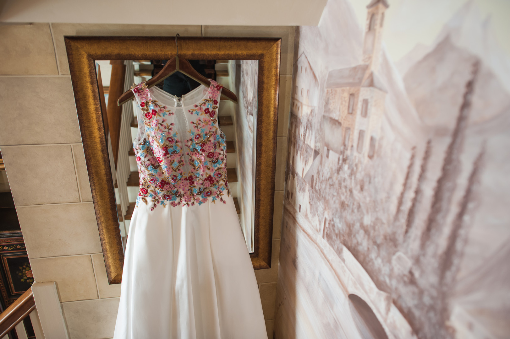 Colorful Bridal Wedding Gown Chicago Wedding Elite Photography
