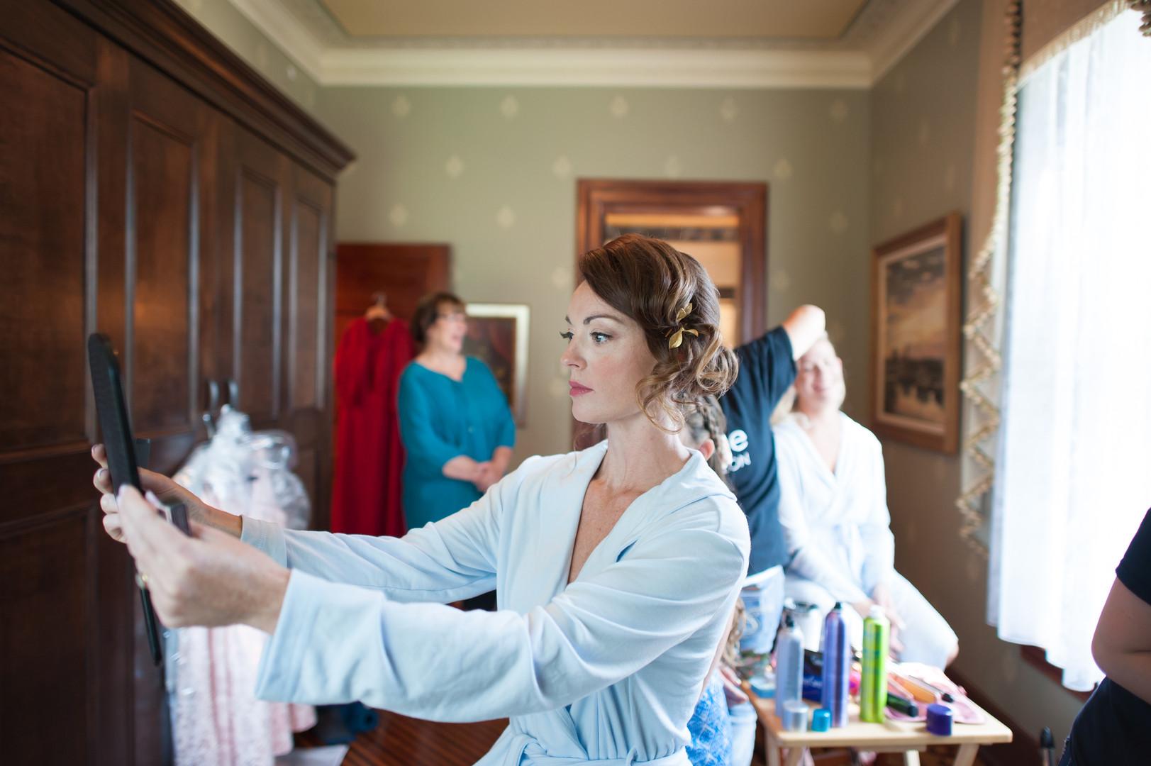 Pastel Blue Bridal Robe Chicago Wedding Elite Photography