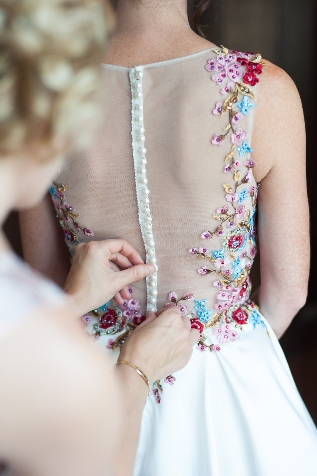 Mesh Button Down Bridal Gown Chicago Wedding Elite Photography