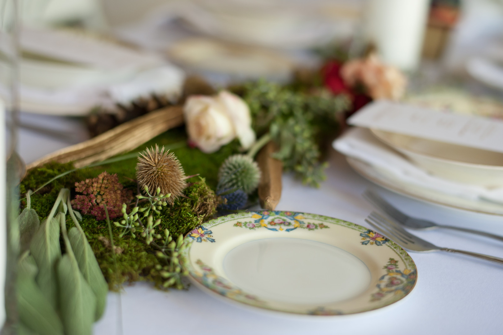 Greenery Table Setting Chicago Wedding Elite Photography