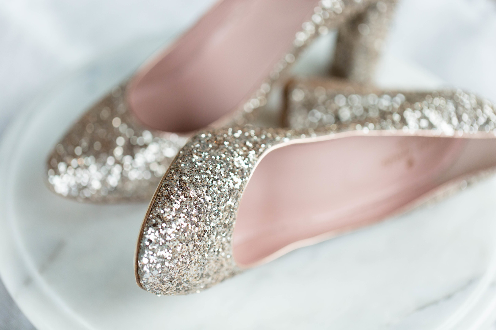 Gold Glitter Wedding Heels Chicago Wedding Meghan McCarthy Photography