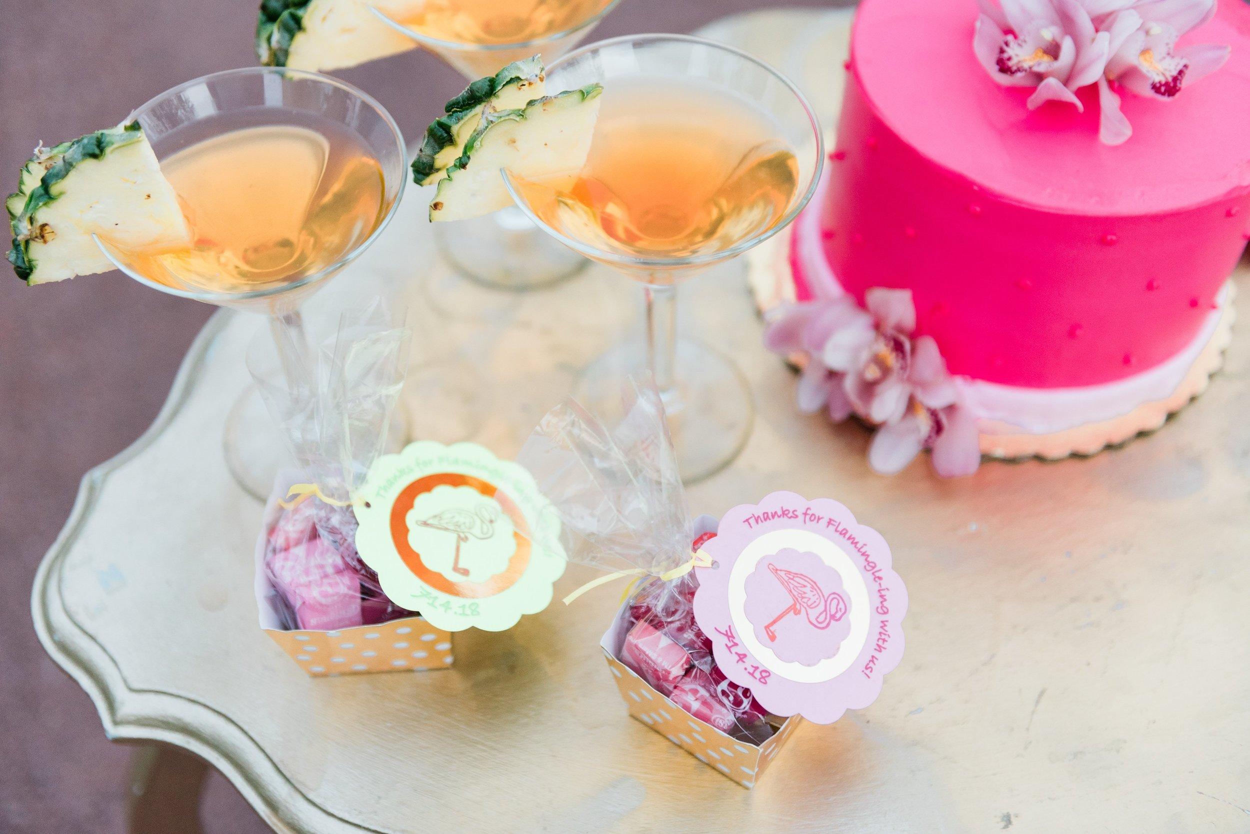Pink One Tiered Wedding Cake Chicago Wedding Anamaria Vieriu Photography