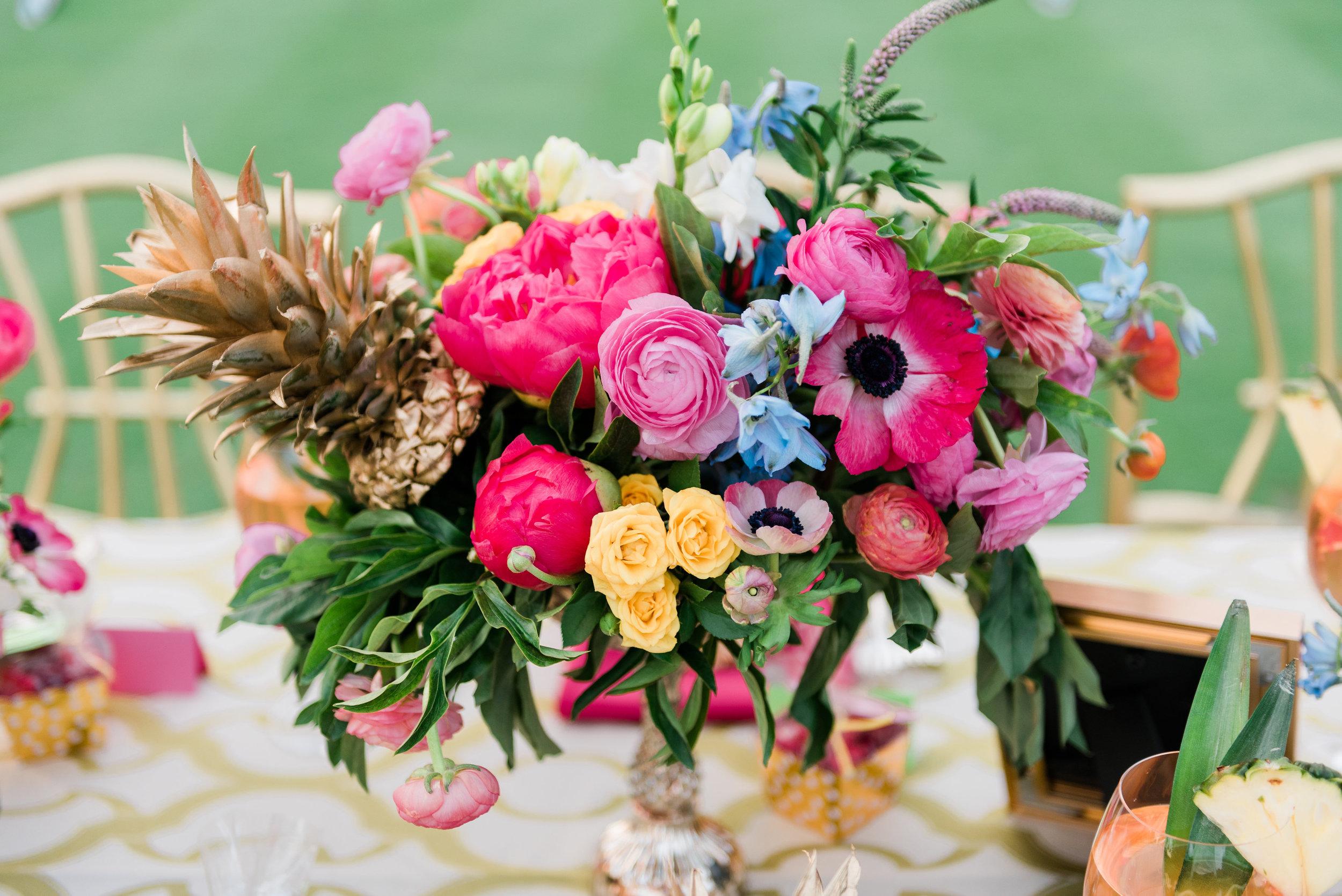 Vibrant Color Center Pieces Chicago Wedding Anamaria Vieriu Photography