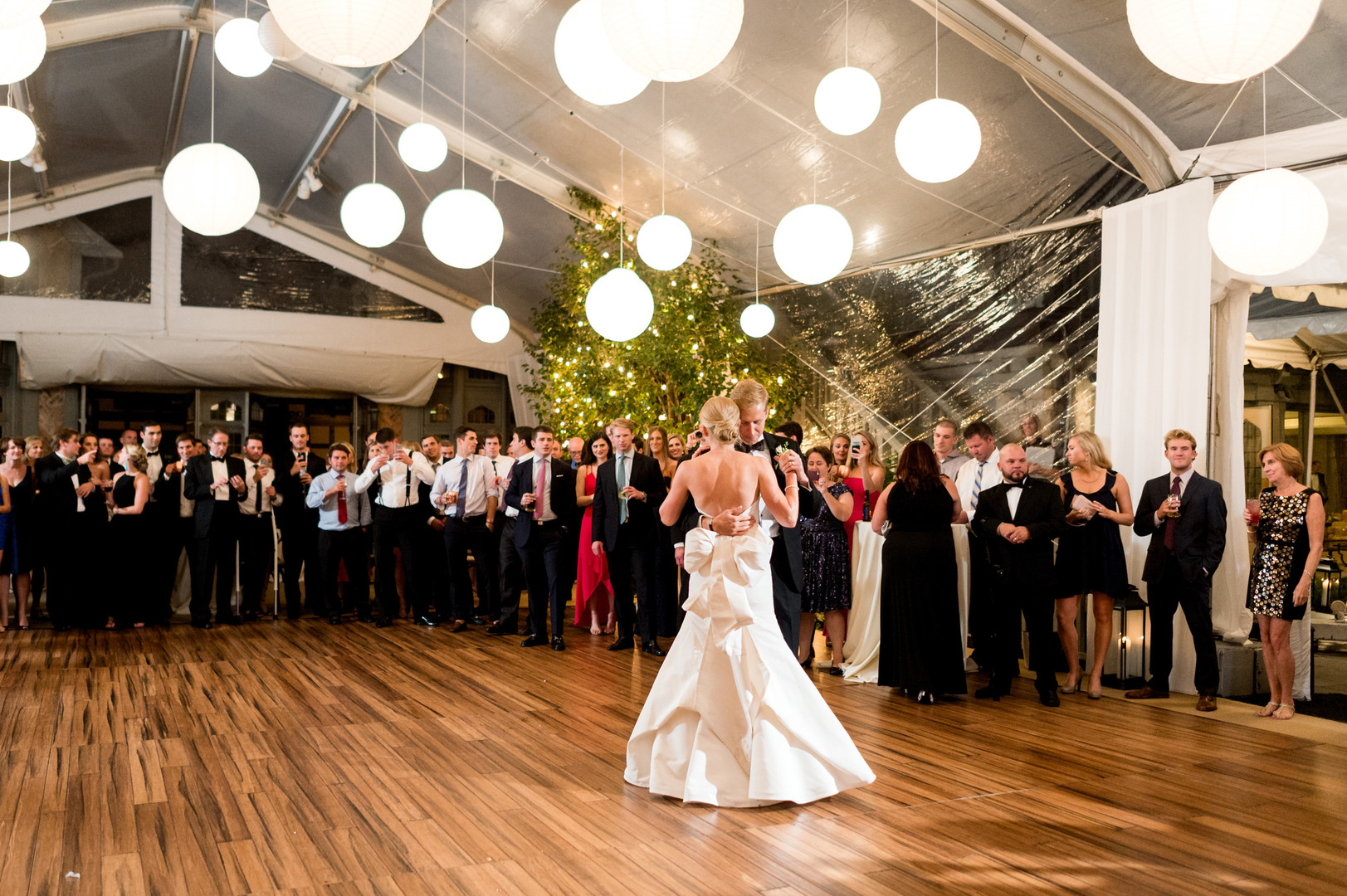 Bride and Groom First Dance Chicago Wedding Julia Franzosa Photography