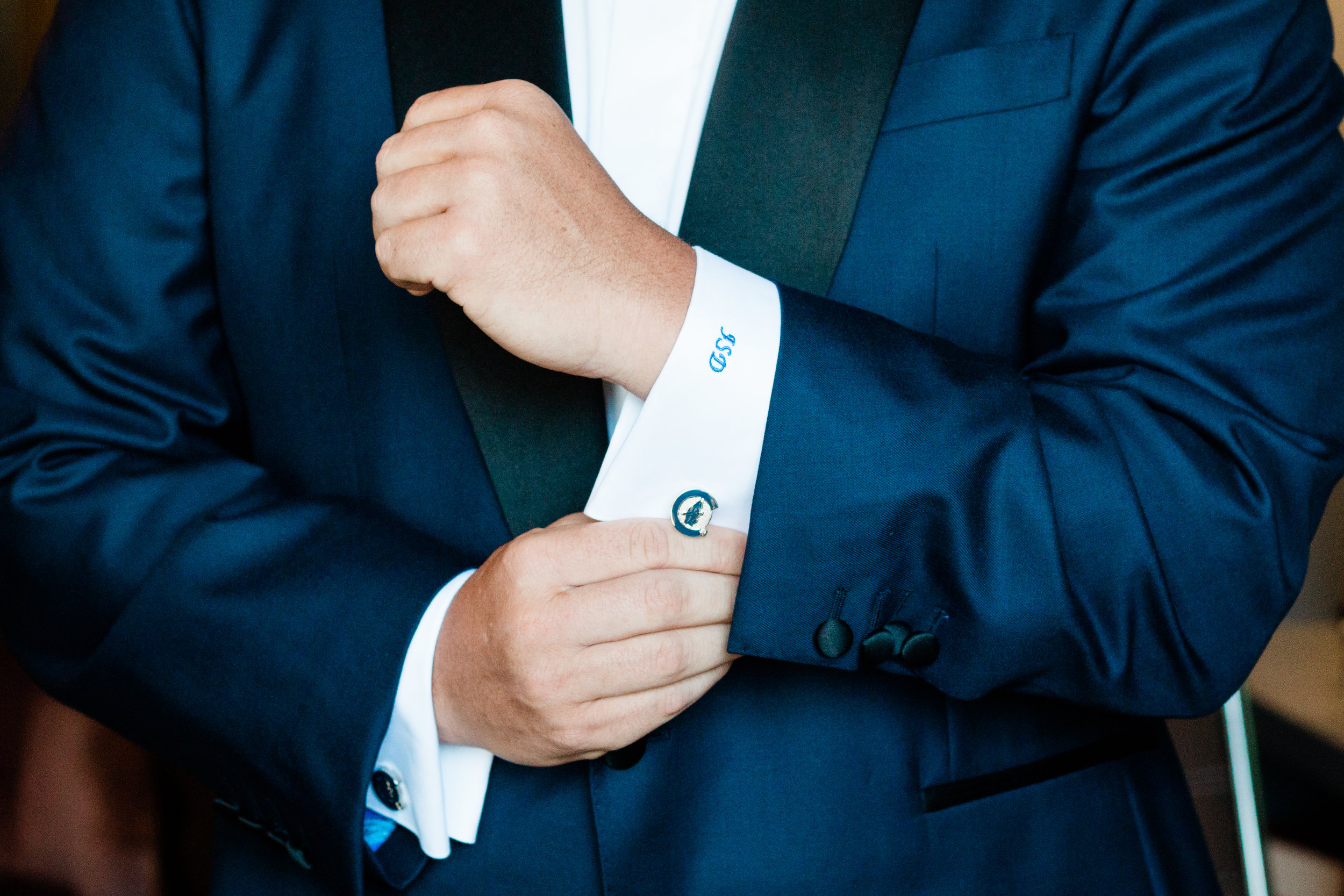 Navy and Black Groom Tux Chicago Wedding Lindsey Taylor Photography
