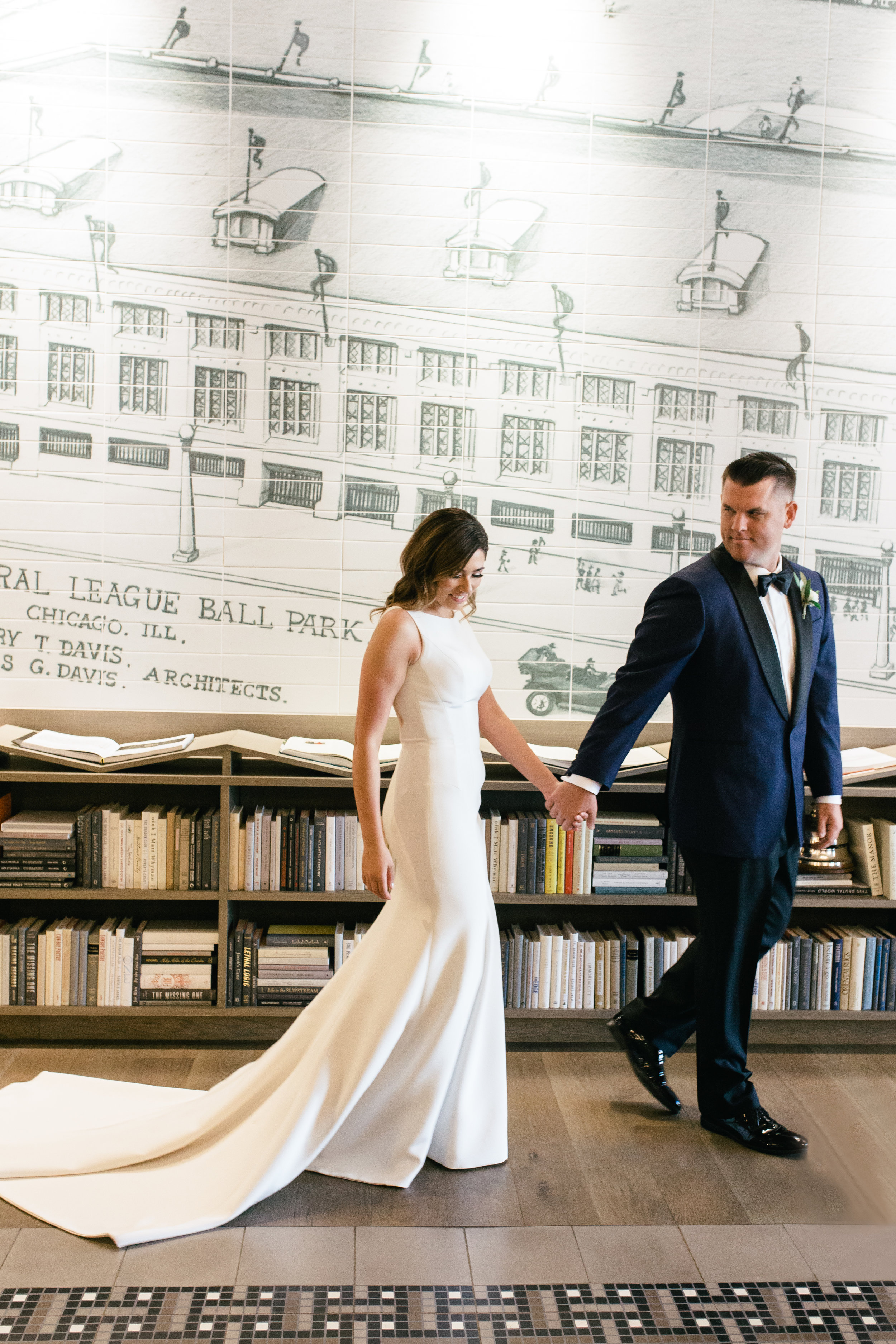Elegant Bride and Groom Portrait Chicago Wedding Lindsey Taylor Photography