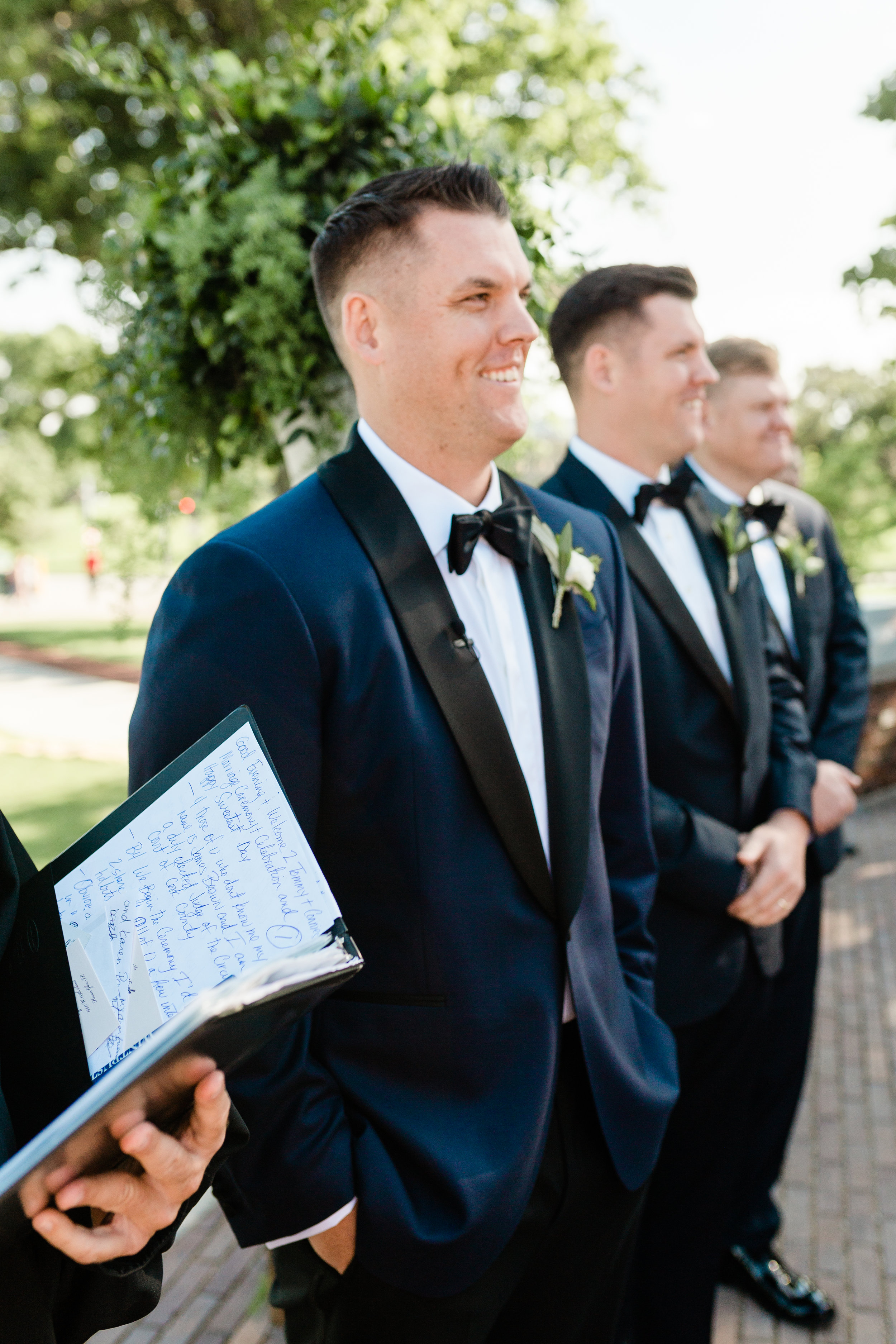 Navy and Black Groom Tuxedo Chicago Wedding Lindsey Taylor Photography