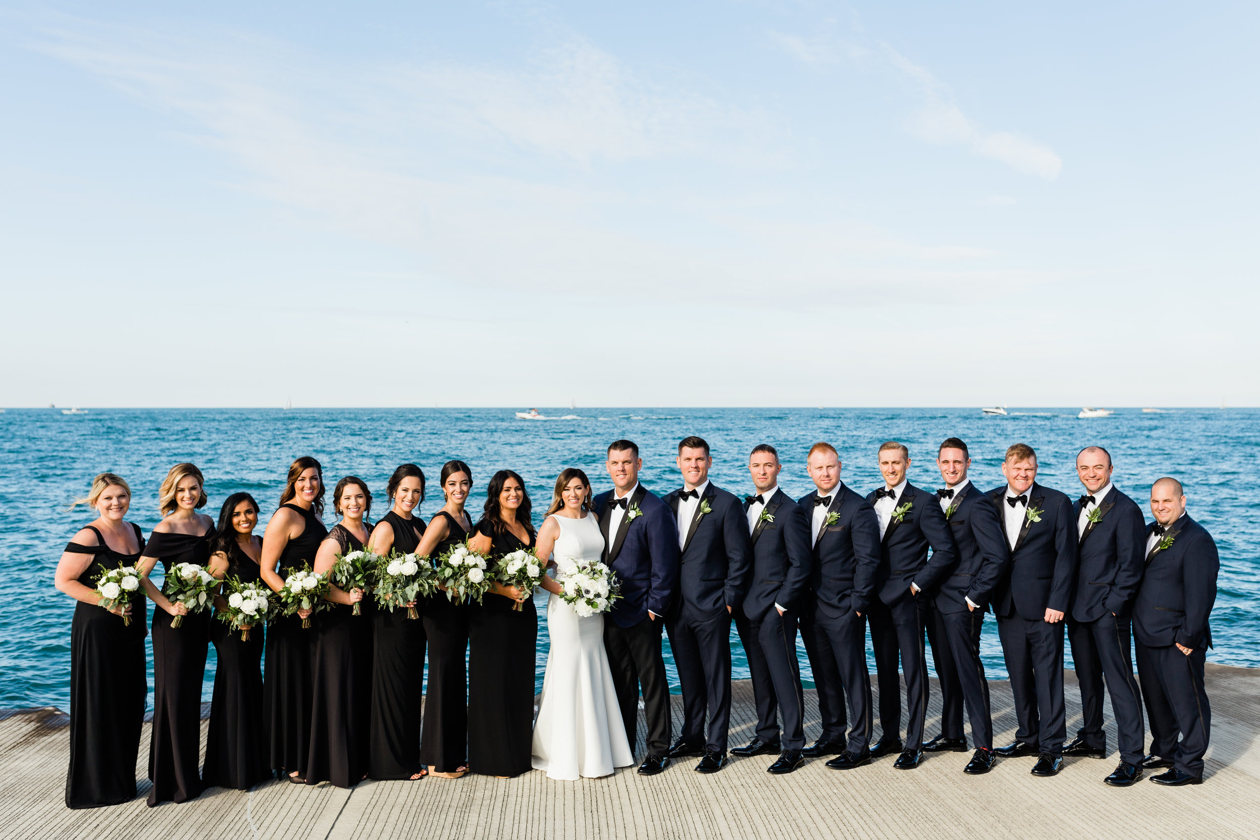 Black and Navy Bridal Party Chicago Wedding Lindsey Taylor Photography